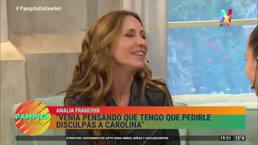 Analía Franchin le pidió disculpas a Pampita