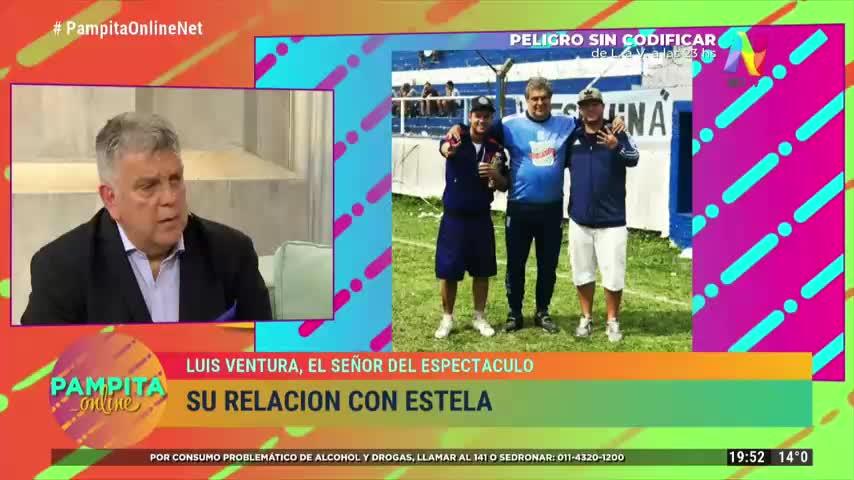 Luis Ventura se emocionó en el living de Pampita Online