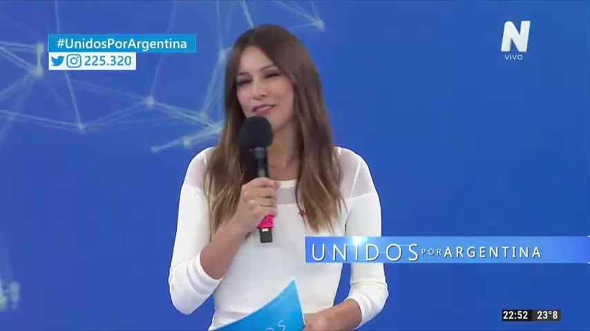 Lali Espósito en Unidos por Argentina