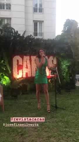Josefinal Silveyra en la gala de Caras