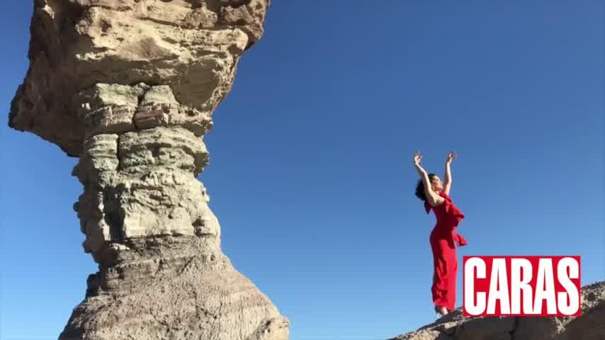 Natalia Oreiro en el Valle de la Luna