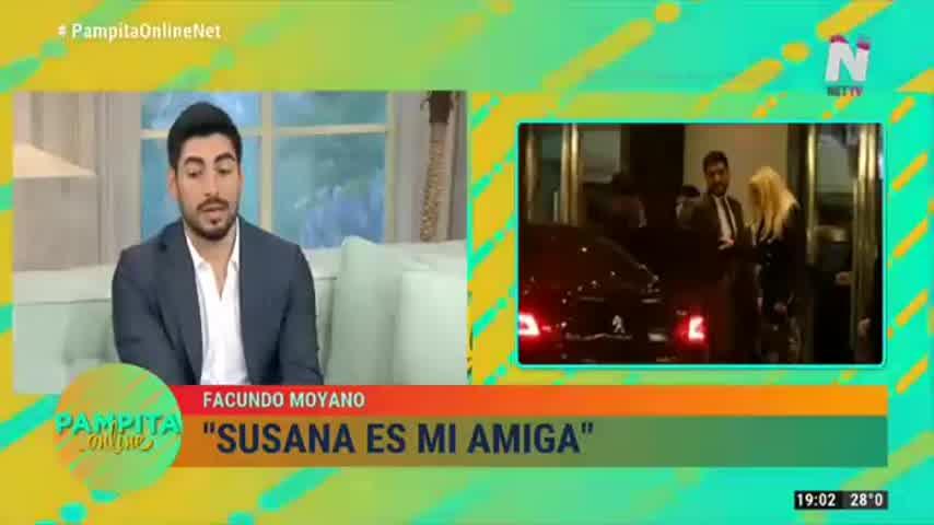 Facundo Moyano visitó Pampita Online