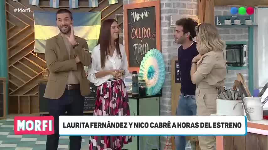 Nico Cabré se niega a besar a Laurita Fernández