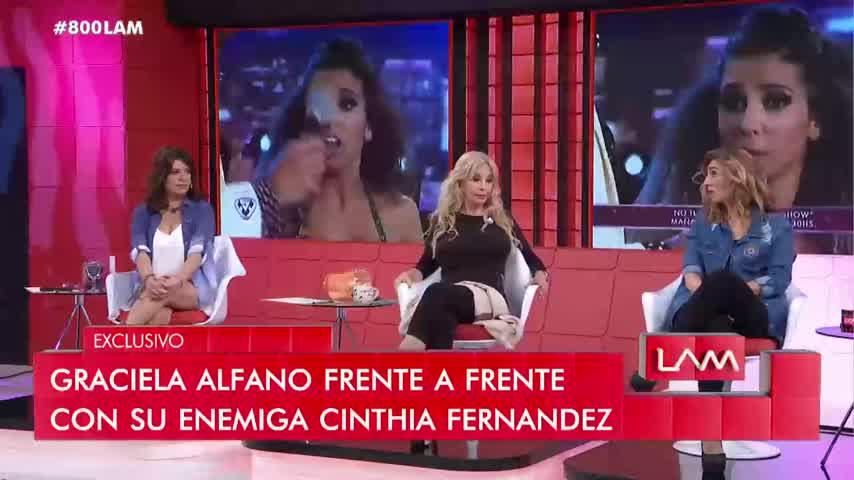Graciela Alfano le pegó en vivo a Karina Iavícoli y se generó un fuerte escándalo en LAM