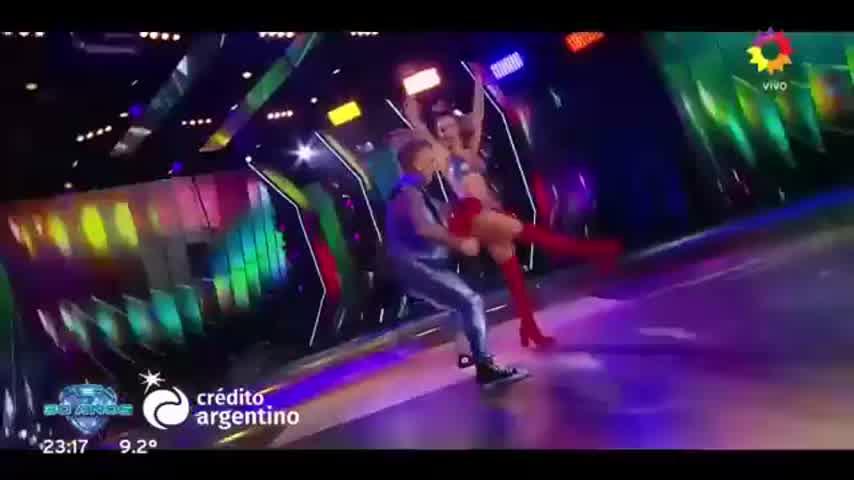 El Polaco y Noelia Marzol debutaron el el Bailando