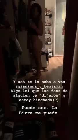 Gianinna Maradona colaless 2
