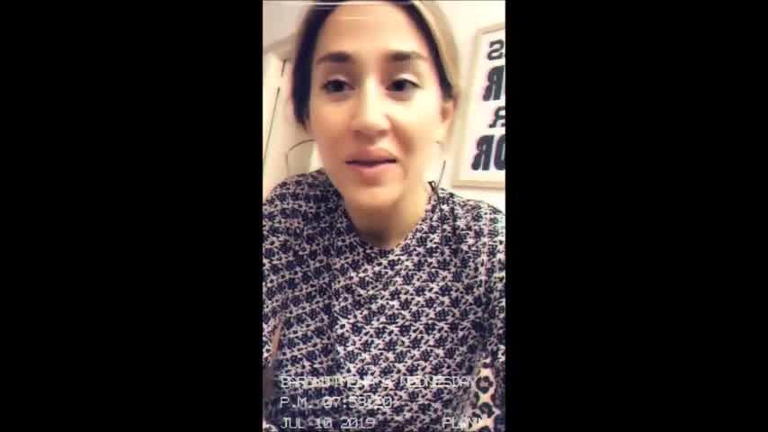 Jimena Baron le canto a la empresa de fletes que le rompio la tv