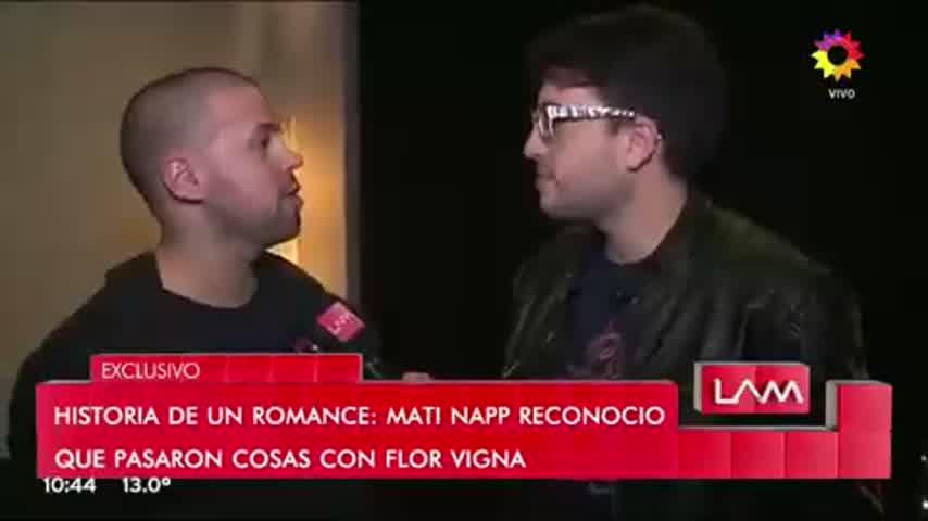 Mati Napp habló del supuesto romance con Vigna