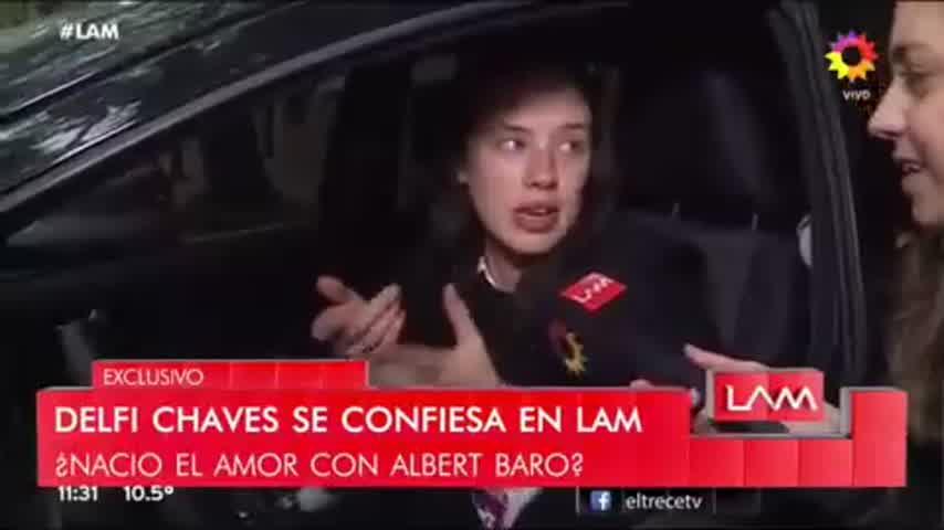 Delfi Chaves habló del video en donde se ve muy cómplice con Albert Baró