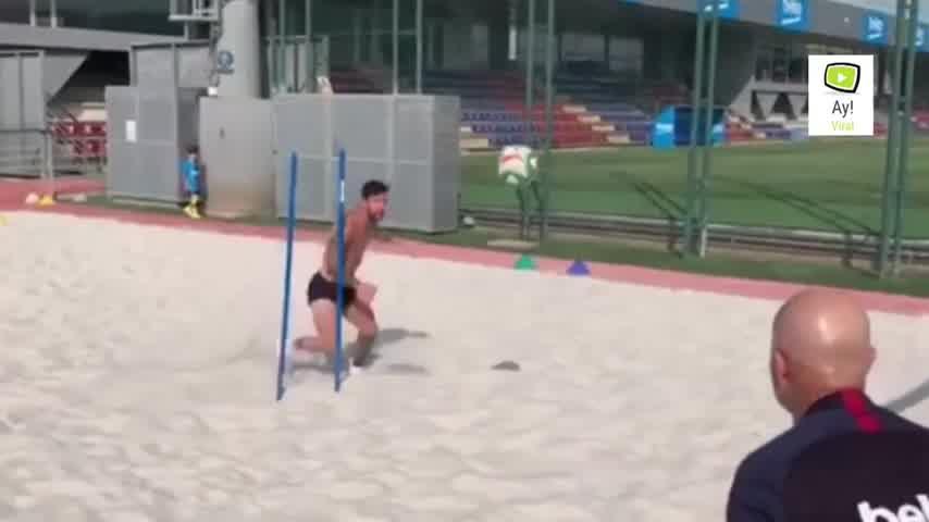 Así se entrena Messi para volver con todo