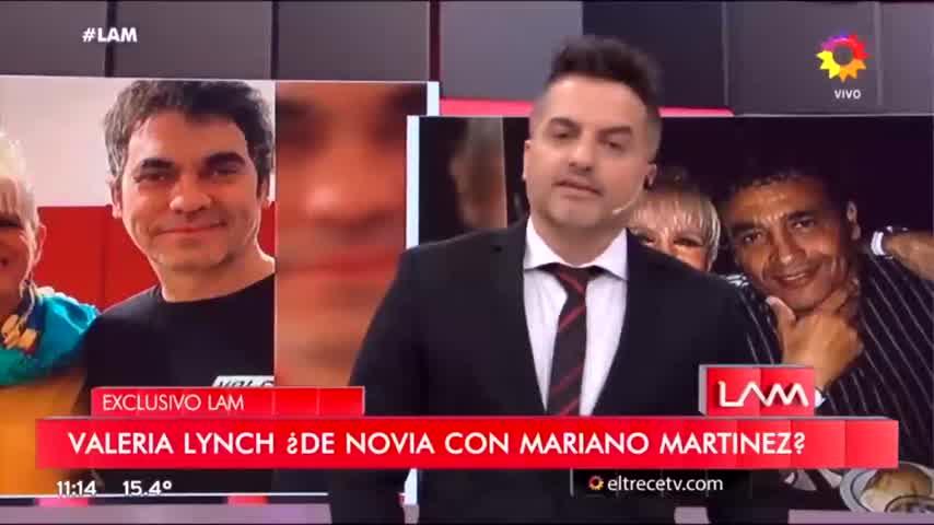 Valeria y Mariano Martínez, el líder de Ataque 77