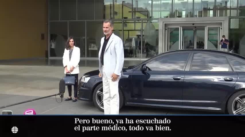 Felipe VI y la Reina Letizia visitan al rey emérito Juan Carlos