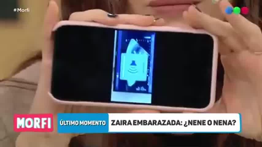Zaira reveló el sexo del bebe