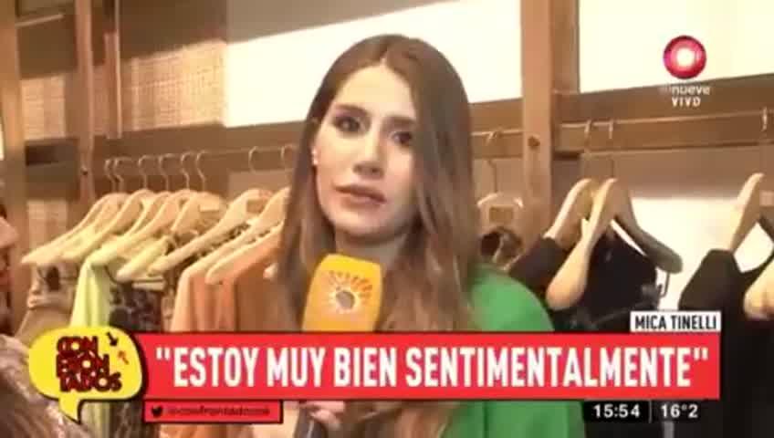 Mica Tinelli confirmó su romance con Licha lopez