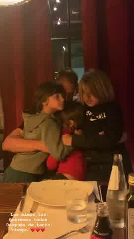 El encuentro de Maxi Lopez con sus hijos