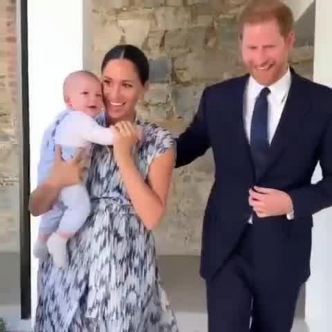 Archie, el hijo de Meghan Markle y Harry, se robó todas las miradas en Sudáfrica