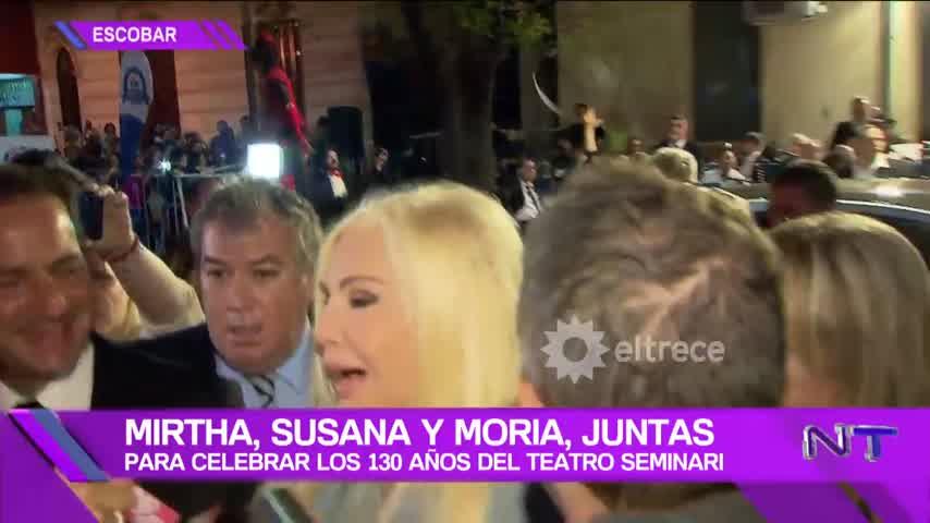 Mirtha Legrand, Susana Giménez y Moria Casán, juntas en la gala por los 130 años del Teatro Seminari