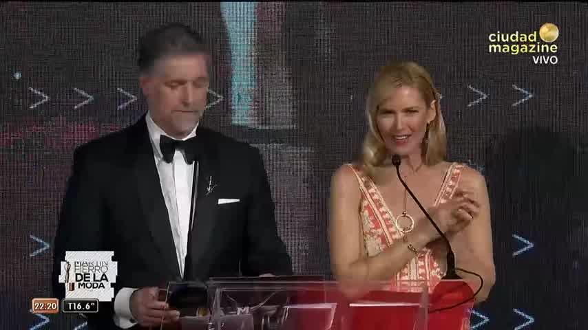 """Pampita le dedicó el premio a sus hijos y en especial a Blanca: \""""A mi amor, que estás allá arriba\"""""""