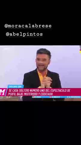 Abel Pintos se casa con Mora Calabrese