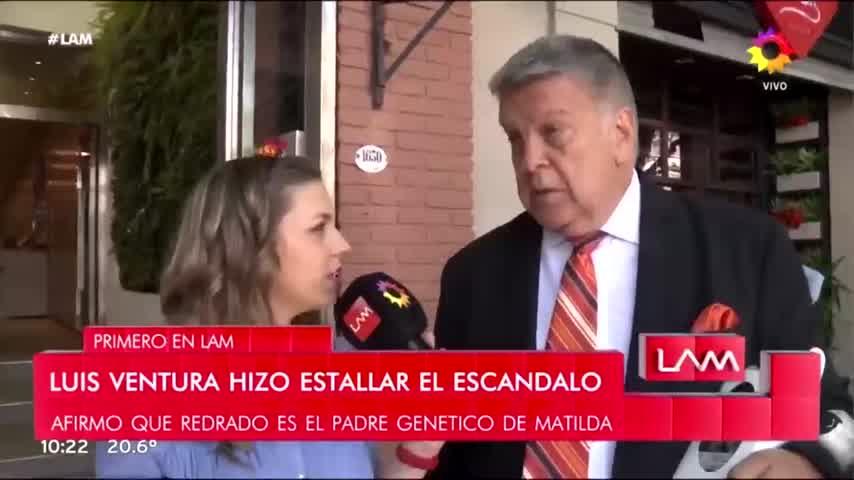 Luis Ventura reveló quién es el papa de MATILDA