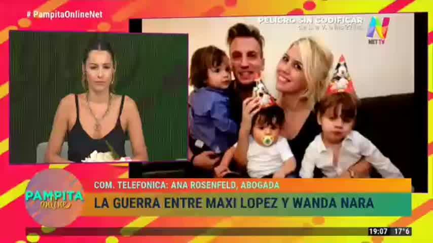Pampita sobre Maxi López