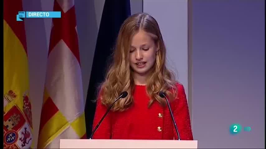 Discurso princesa Leonor en Catalunya