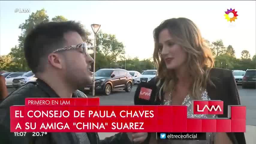 Paula Chaves aconsejó a la China Suárez