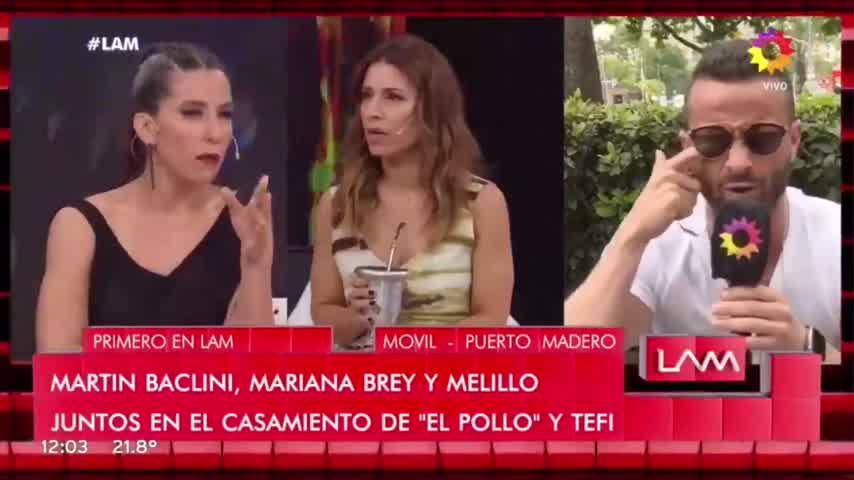 Mariana Brey  y Cinthia Fernández: fuerte cruce en vivo