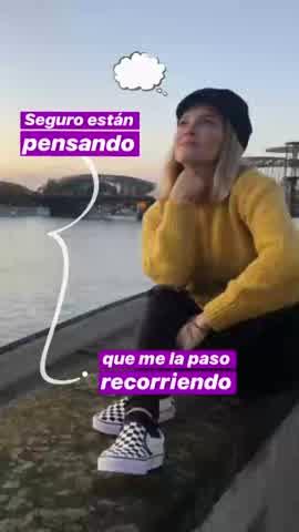 Luisana Lopilato de viaje con Bublé
