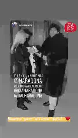foto inédita de Maradona