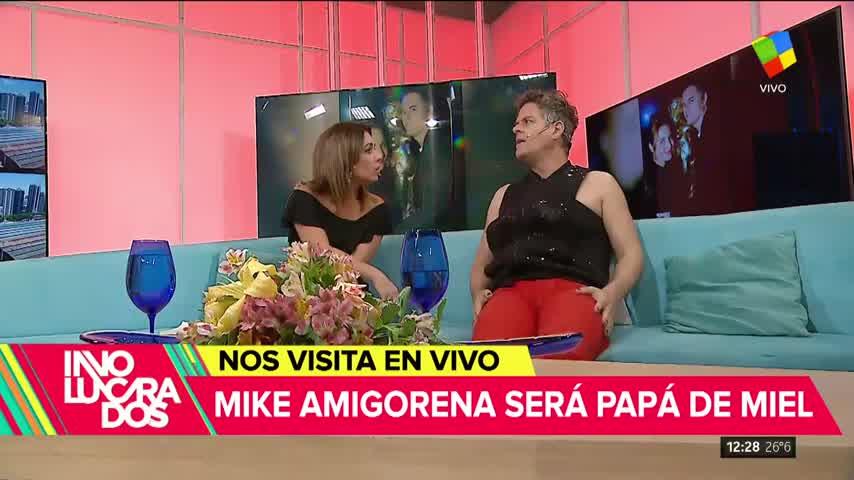 """Mike Amigorena será papá de Miel: \""""Le hablo a la panza\"""""""
