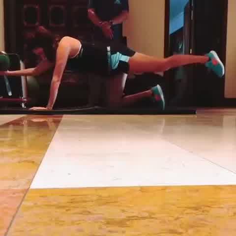 El duro entrenamiento que realiza Luciana Aymar durante su embarazo