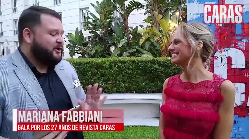 Mariana Fabiani en la Gala de Caras 27 años