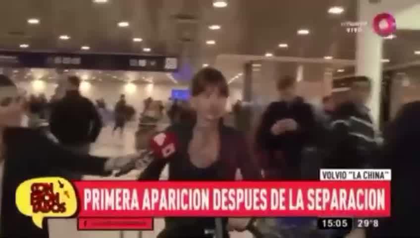 La China Suárez volvió al país