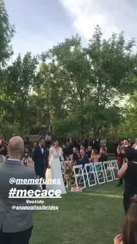 Mercedes Funes en su casamiento