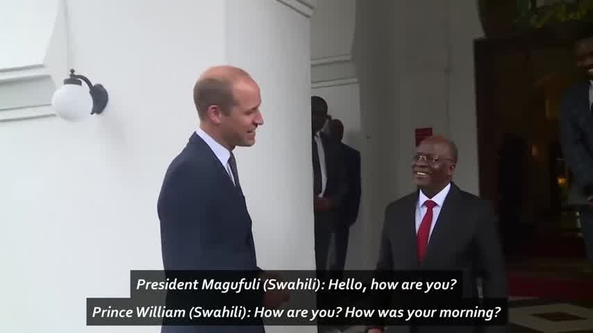 Prince William speaks Swahili while visiting Tanzania!