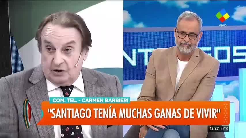 Carmen Barbieri devastada por la muerte de Santiago Bal