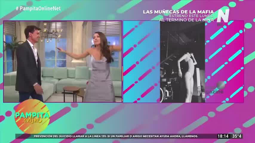 Desopilante: Pampita imitó el baile de Calu Rivero