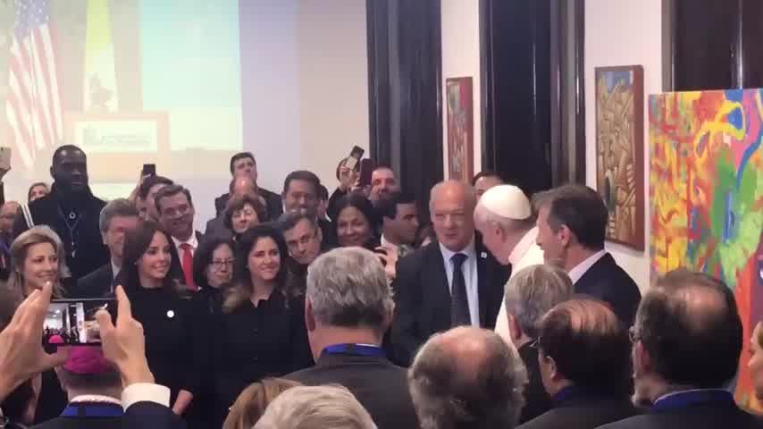 El encuentro entre Fabiola Yánez y el Papa Francisco