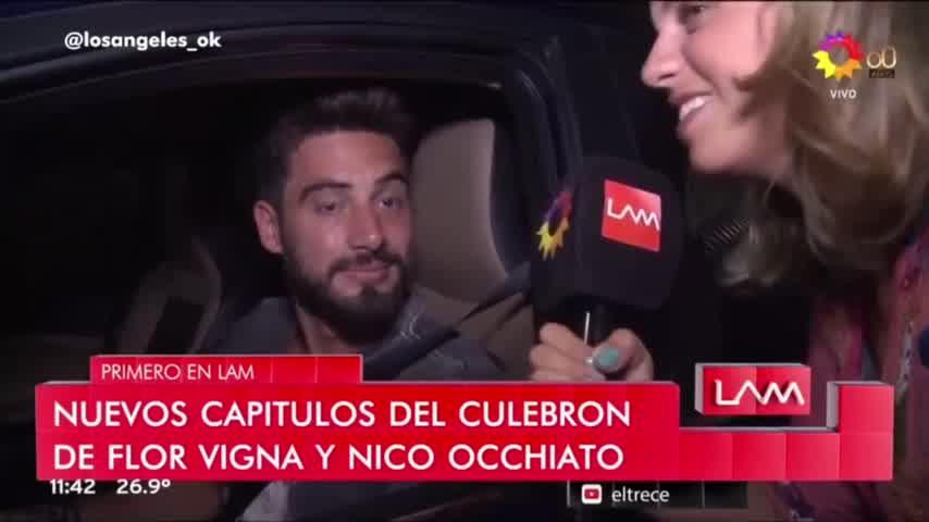 Nico Occhiato habló de las imágenes junto a Flor Vigna