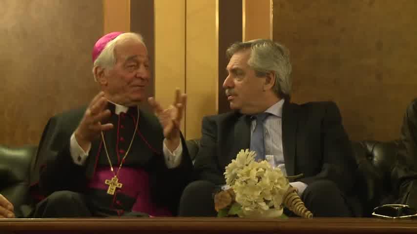 Fabiola Yáñez en el Vaticano