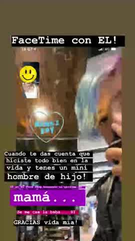 Gianinna Maradona sobre su hijo Benjamín