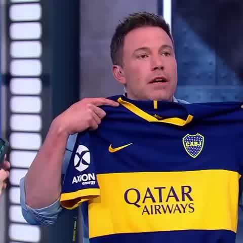 Ben Affleck mostró su fanatismo por un club de fútbol de la Argentina