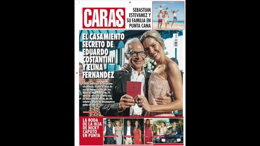 Elina Fernández, a punto de desmayarse en su casamiento con Eduardo Costantini
