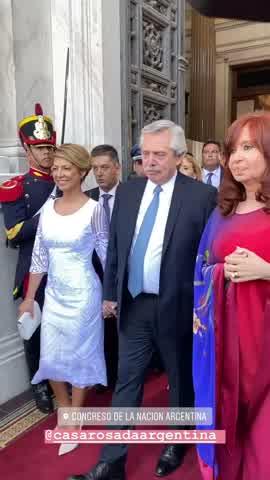 El sofisticado look de Fabiola Yañez para la apertura de las sesiones en el Congreso