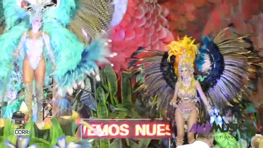 Graciela Alfano brilló en los Carvales de Corrientes