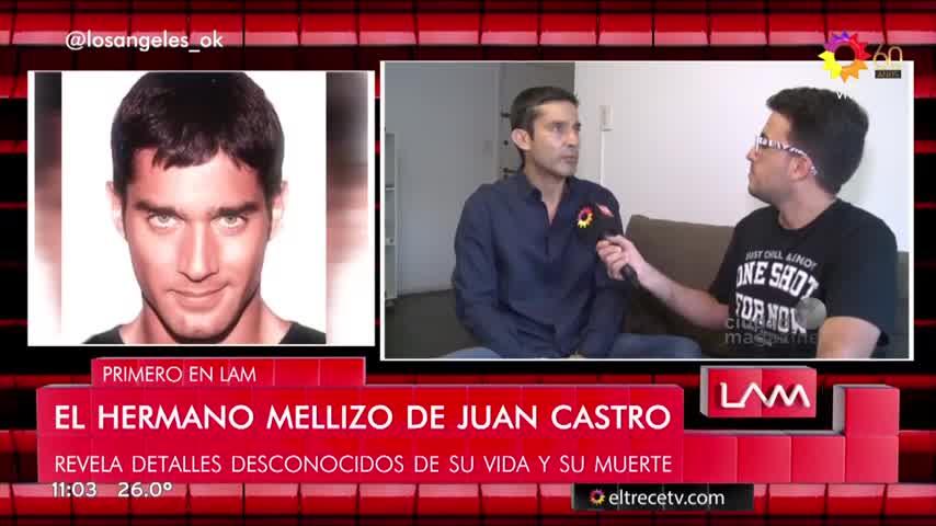 El hermano de Juan Castro habló sobre la muerte de su hermano mellizo