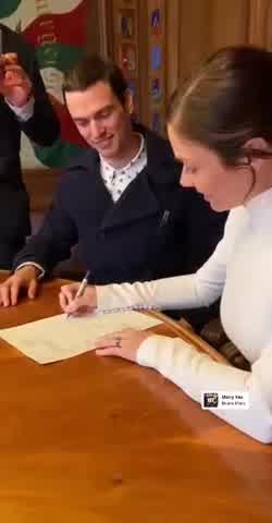 VIDEO | Se casó Laura Laprida, la hija de la trilliza María Eugenia