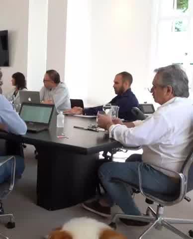 Dylan Fernández acompañó al Presidente en la reunión de gabinete