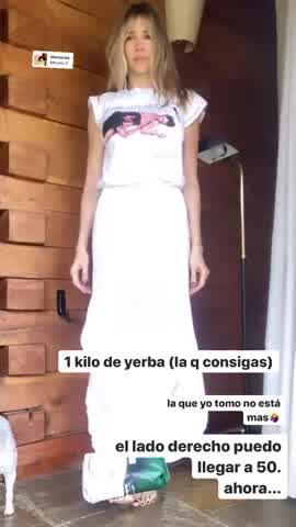 Guille Valdés entrena en la cuarentena con alimentos